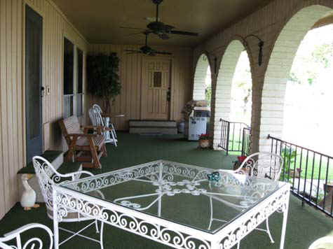 Covered Porch facing Lake LBJ