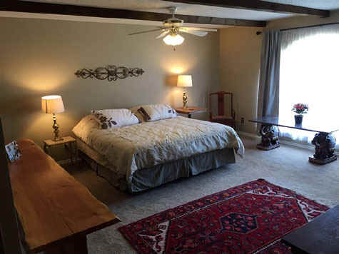 Master Bedroom at The hacienda on Lake LBJ